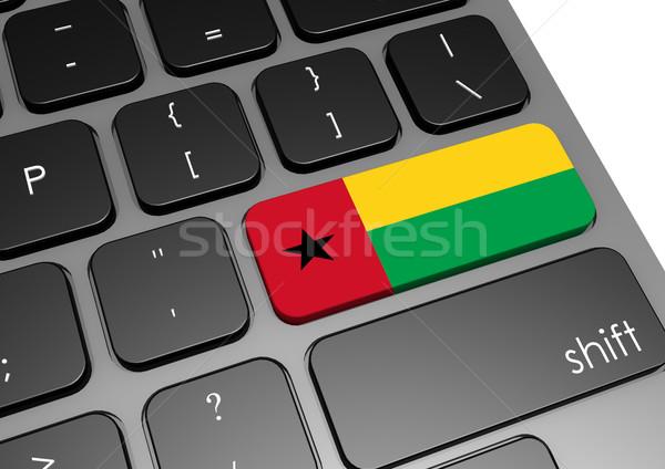 Toetsenbord afbeelding gerenderd gebruikt grafisch ontwerp Stockfoto © tang90246