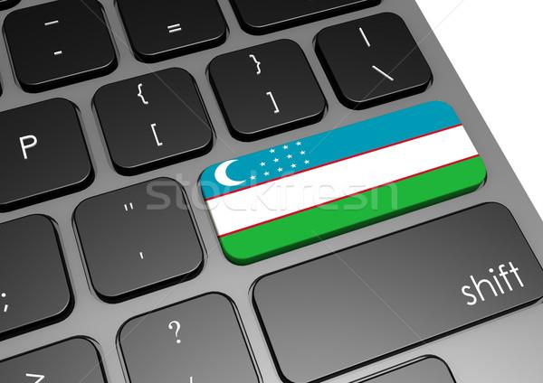Узбекистан клавиатура изображение оказанный используемый Сток-фото © tang90246