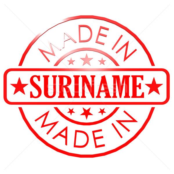 Суринам красный печать бизнеса бумаги дизайна Сток-фото © tang90246