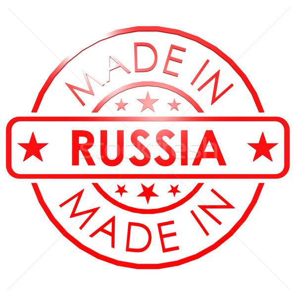 Stock photo: Made in Russia red seal