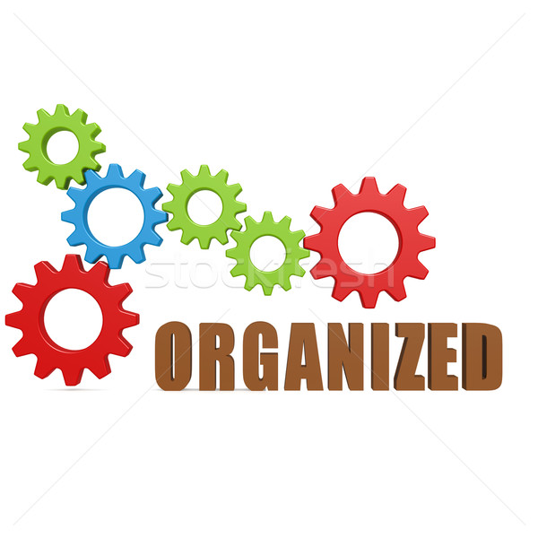 Organized gear Stock photo © tang90246