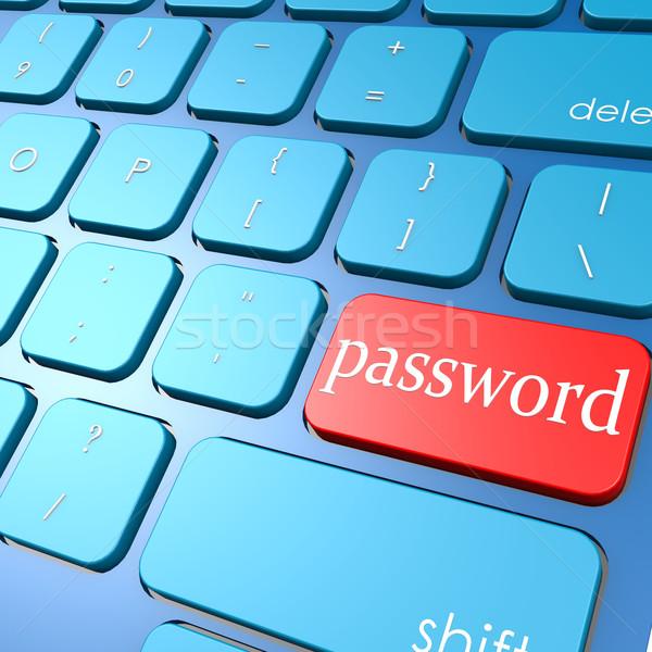 Parola klavye bilgisayar güvenlik veri suç Stok fotoğraf © tang90246