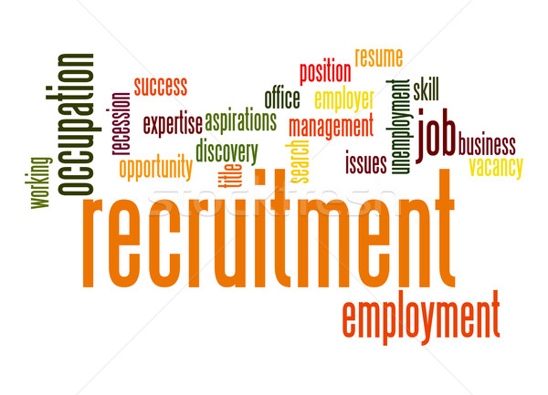 Recruitment word cloud Stock photo © tang90246