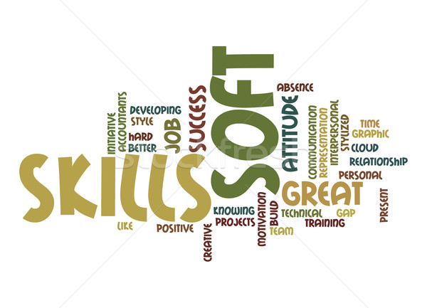 Soft skills word cloud Stock photo © tang90246