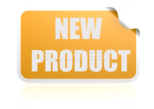 New product yellow sticker Stock photo © tang90246