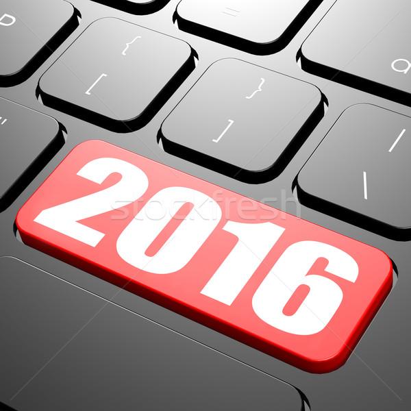 Keyboard on year 2016 Stock photo © tang90246