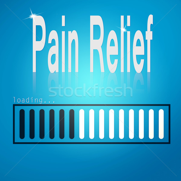 Pain relief blue loading bar Stock photo © tang90246