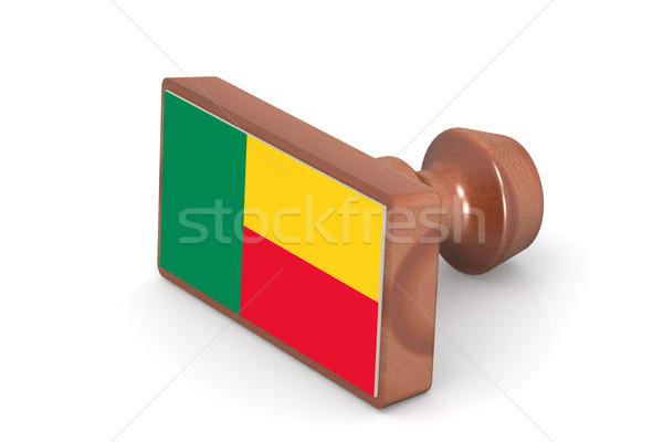 Legno timbro Benin bandiera immagine reso Foto d'archivio © tang90246