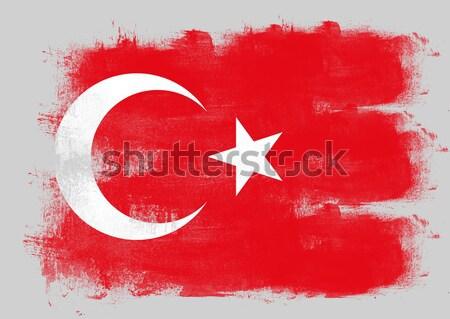 Bandeira Tunísia pintado escove sólido abstrato Foto stock © tang90246