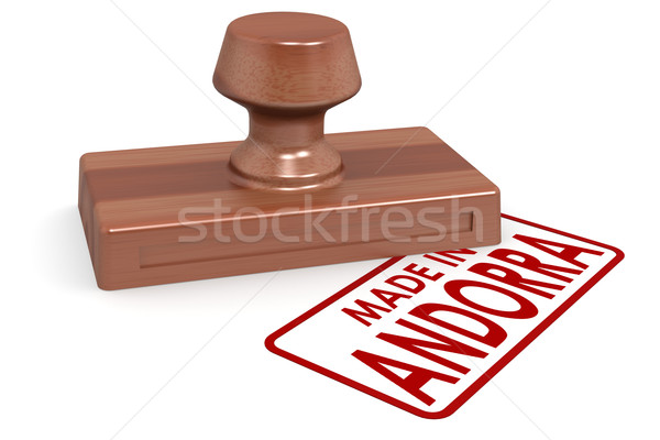 Wooden stamp  made in Andorra Stock photo © tang90246