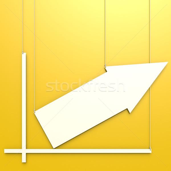 Blank chart hang on yellow background Stock photo © tang90246