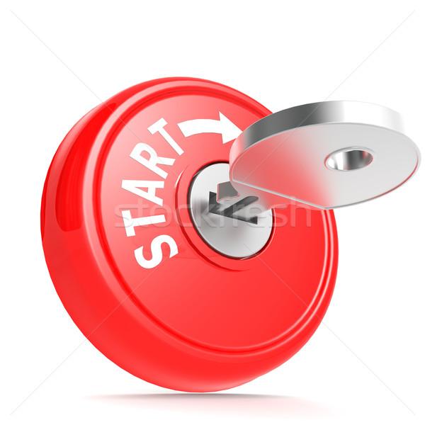 Czerwony początku kluczowych obraz świadczonych Zdjęcia stock © tang90246