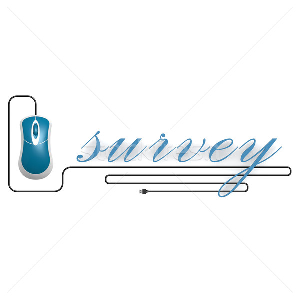Survey word with computer mouse Stock photo © tang90246