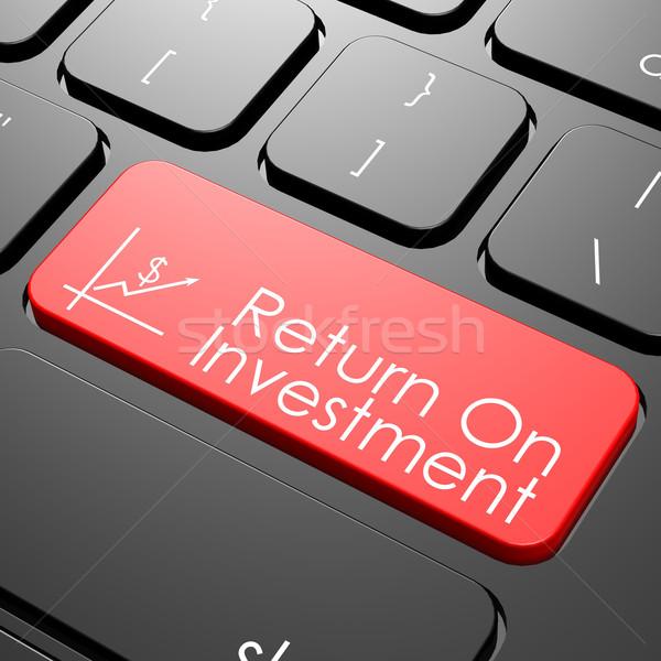 Voltar investimento teclado imagem prestados Foto stock © tang90246