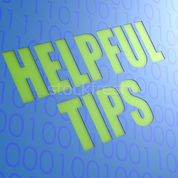 Helpful tips Stock photo © tang90246
