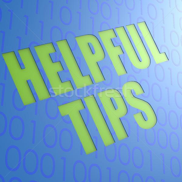 Behulpzaam tips informatie ondersteuning concept kennis Stockfoto © tang90246