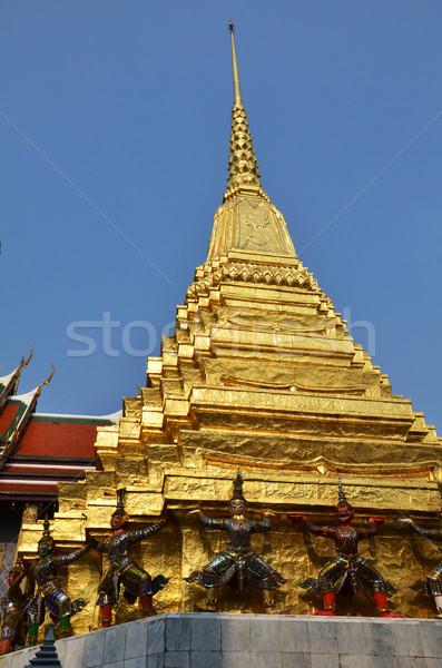 Pagoda palazzo Bangkok Thailandia vetro Foto d'archivio © tang90246