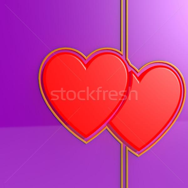 Dobrar amor casamento coração férias romance Foto stock © tang90246
