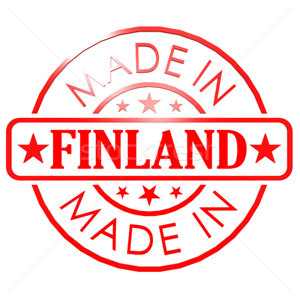Made in Finland red seal Stock photo © tang90246
