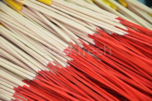 шаблон Stick за пределами храма Таиланд цветок Сток-фото © tang90246
