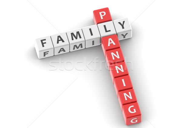 Buzzwords family planning Stock photo © tang90246