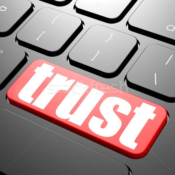 клавиатура доверия текста изображение оказанный Сток-фото © tang90246