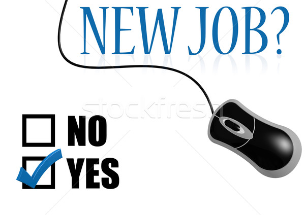 New job with mouse Stock photo © tang90246