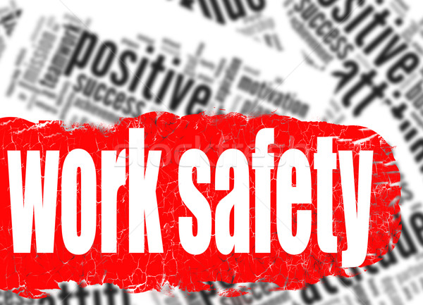 Word cloud work safety Stock photo © tang90246
