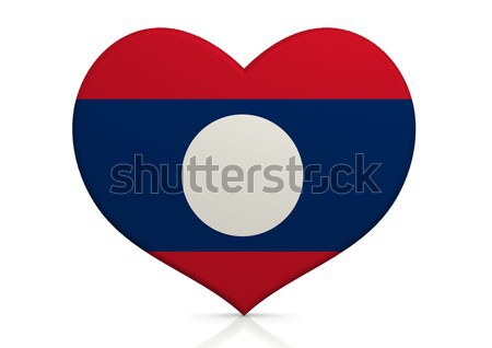 Laos serca tle podróży kraju pojęcia Zdjęcia stock © tang90246