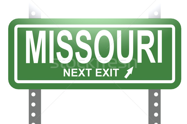Missouri green sign board isolated Stock photo © tang90246