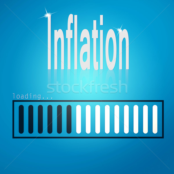 Inflation blue loading bar Stock photo © tang90246