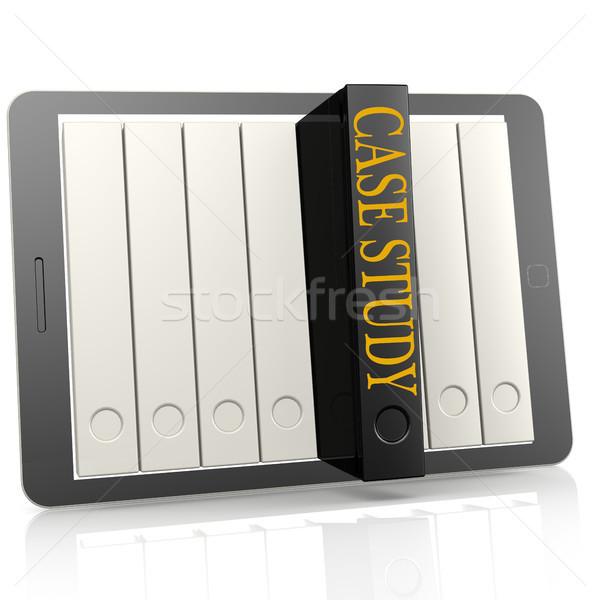 Libro tablet caso studio 3D Foto d'archivio © tang90246