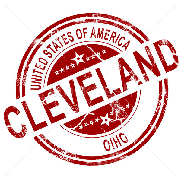 Cleveland Ohio stamp with white background Stock photo © tang90246