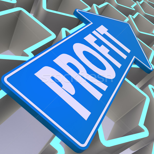 Profit blue arrow Stock photo © tang90246