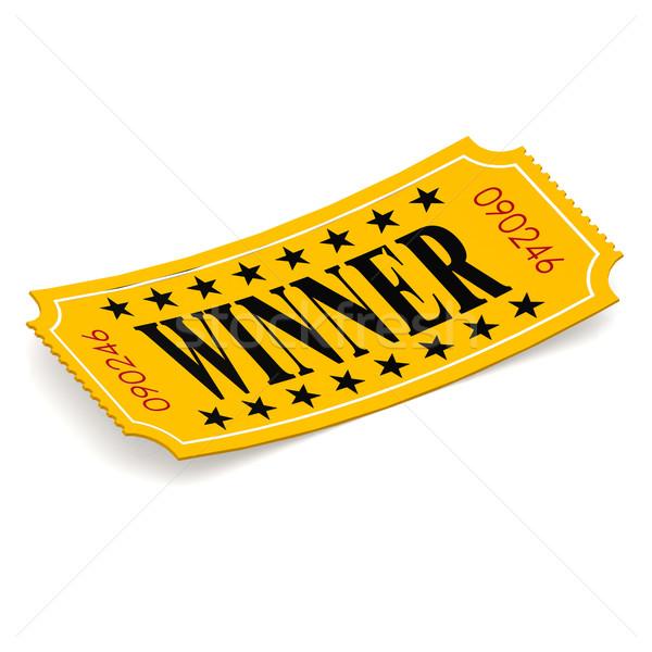 Ganador billete blanco película rosa gráfico Foto stock © tang90246