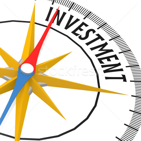 Kompas investering woord financieren markt succes Stockfoto © tang90246