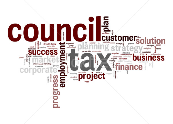 Council tax word cloud Stock photo © tang90246