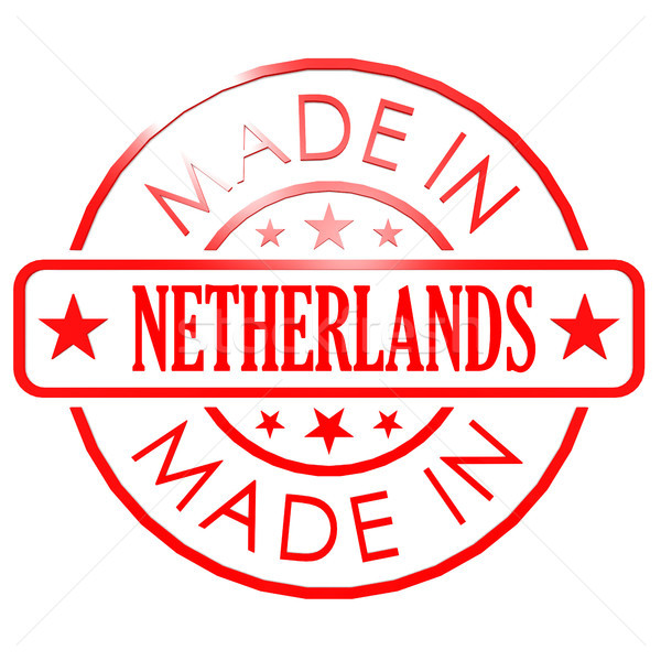 Made in Netherlands red seal Stock photo © tang90246