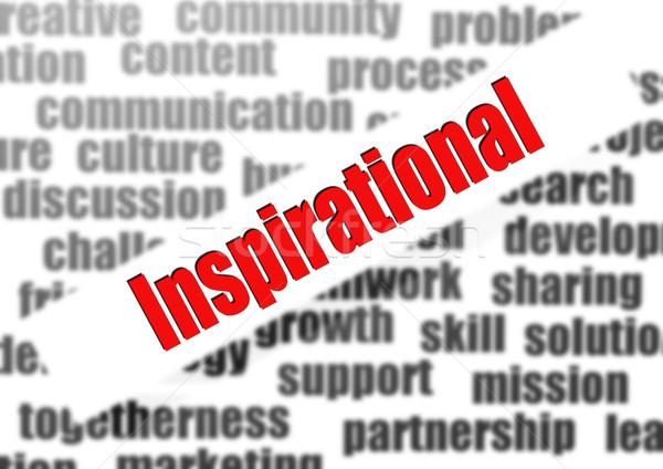 Inspirational word cloud Stock photo © tang90246
