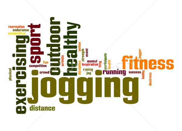 Jogging word cloud Stock photo © tang90246