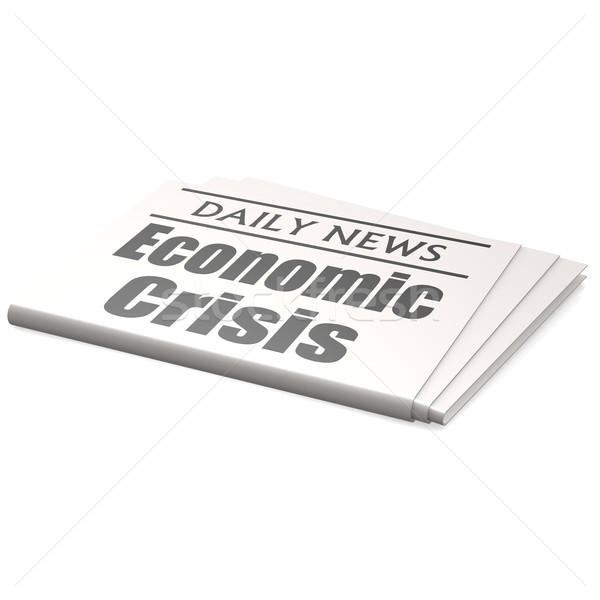 Newspaper economic crisis Stock photo © tang90246