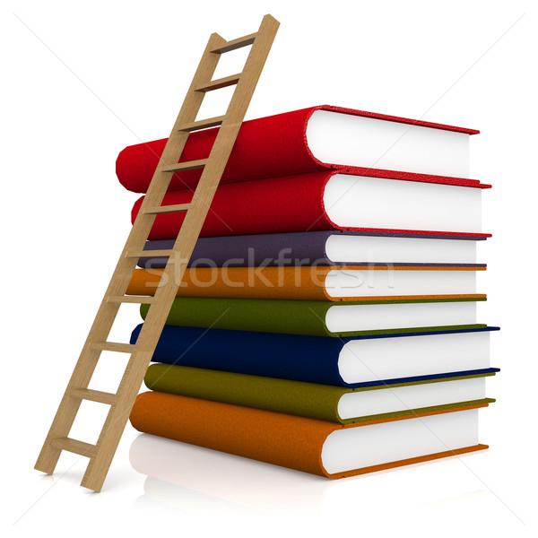лестнице книга бумаги книгах студент кадр Сток-фото © tang90246