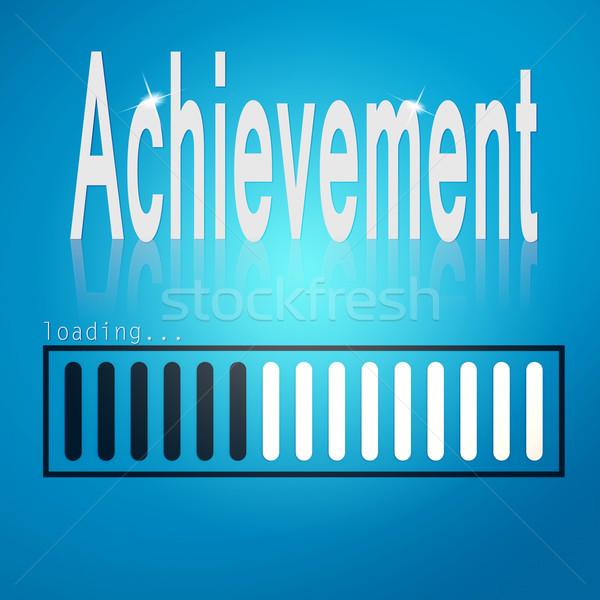 Achievement blue loading bar Stock photo © tang90246
