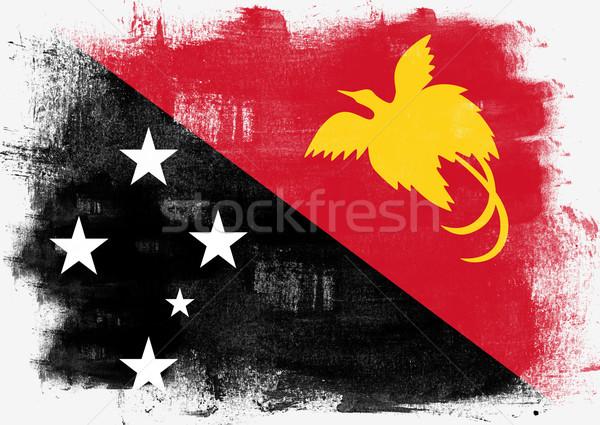 Bayrak Papua Yeni Gine boyalı fırçalamak katı soyut Stok fotoğraf © tang90246