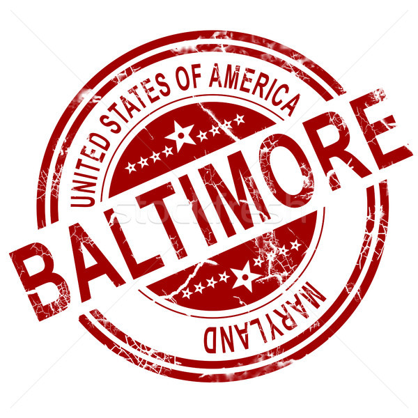Baltimore stamp with white background Stock photo © tang90246