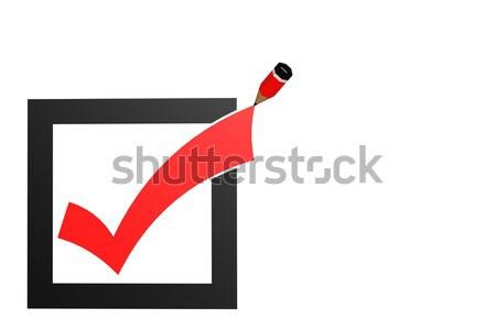 Csekk osztályzat ceruza kép renderelt mű Stock fotó © tang90246