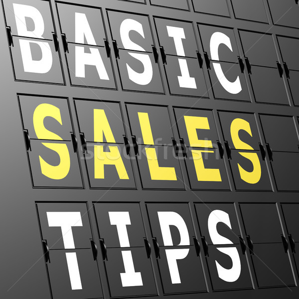 Airport display basic sales tips Stock photo © tang90246
