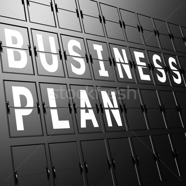 Airport display business plan Stock photo © tang90246