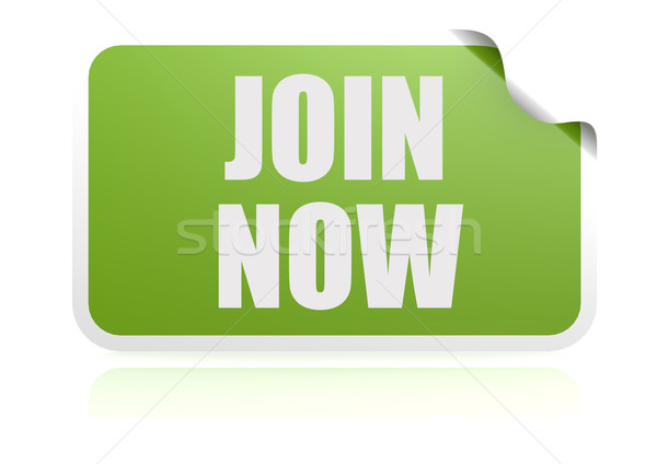 Join now green sticker Stock photo © tang90246