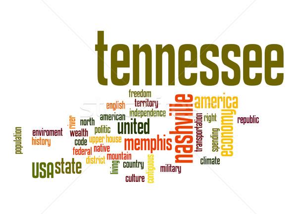 Tennessee nuvem da palavra nuvem liberdade história gráfico Foto stock © tang90246